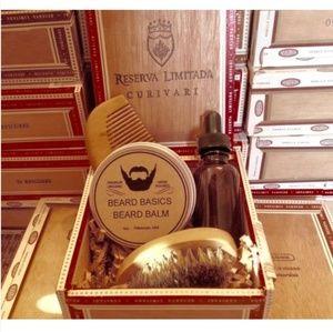 Beard Grooming Kit in Cigar Gift Box Beard Basics